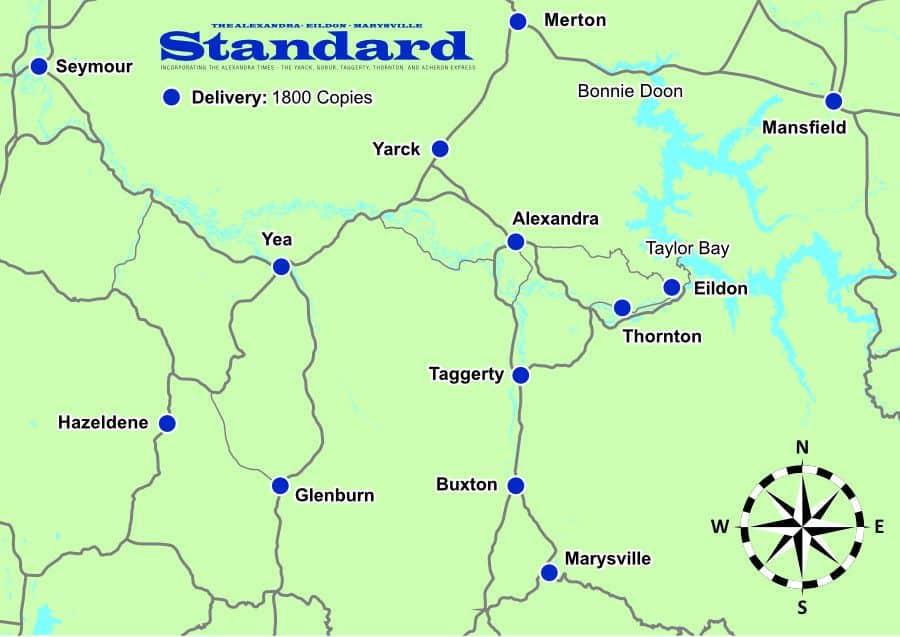 Distribution Map - Alexandra Standard