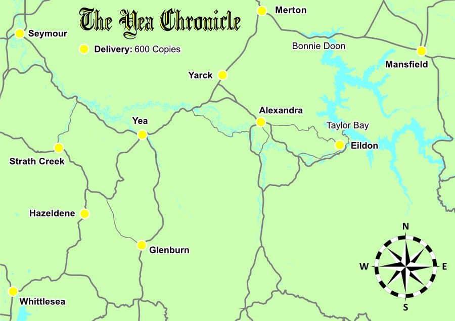 Distribution Map - Yea Chronicle