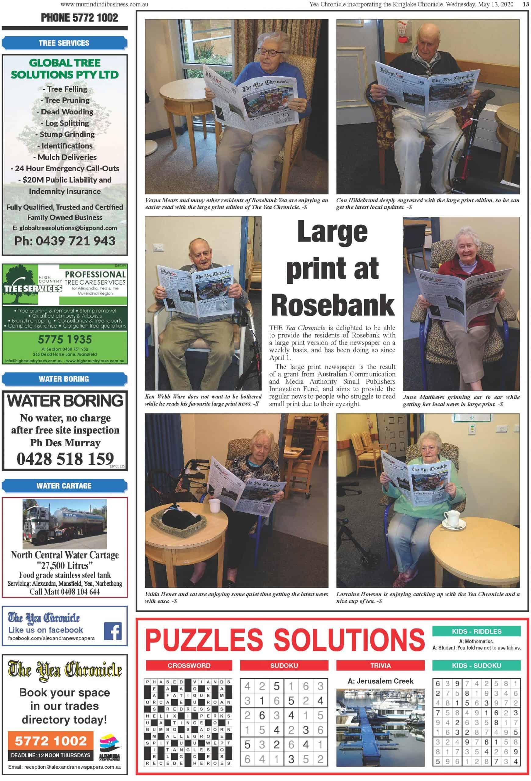 Large print Rosebank